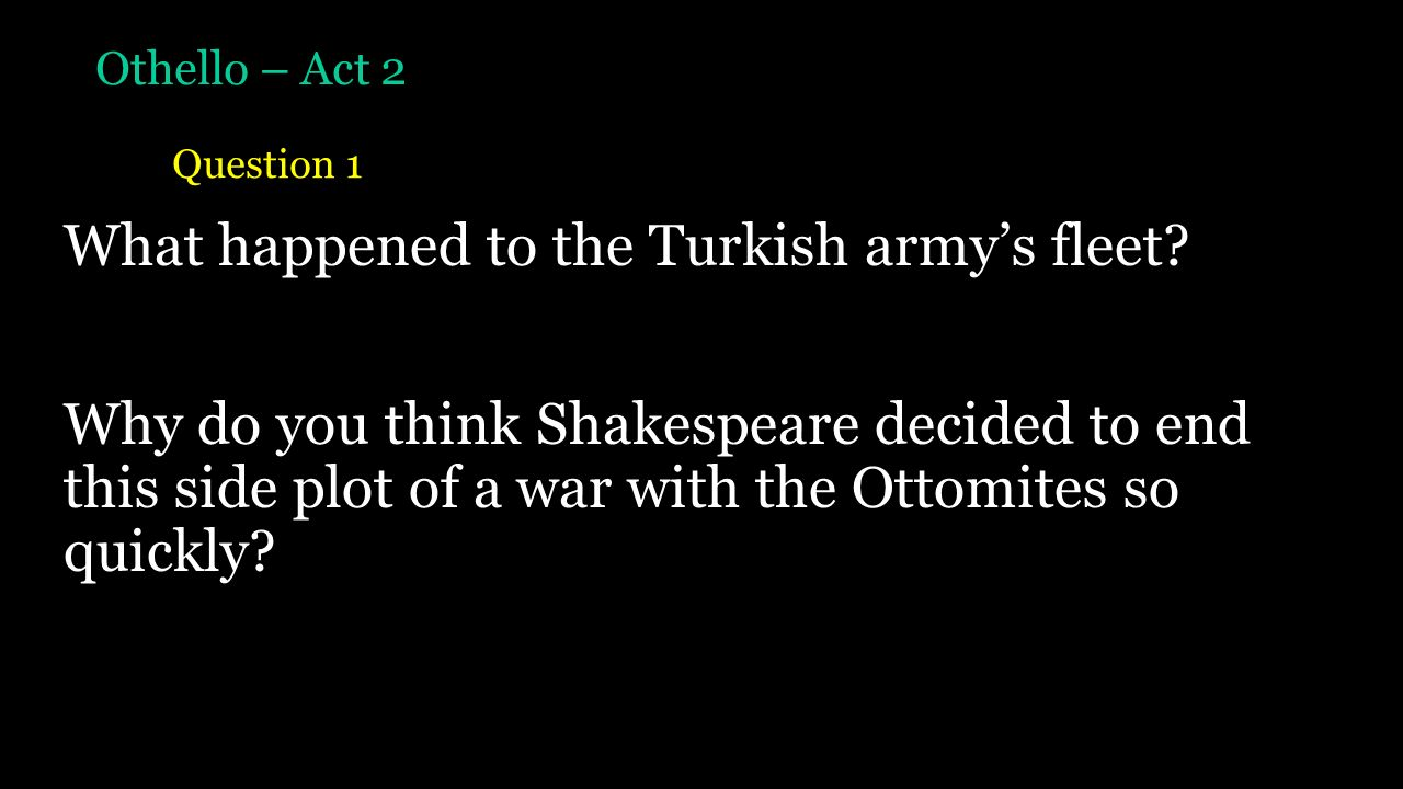 othello act 5 plot summary