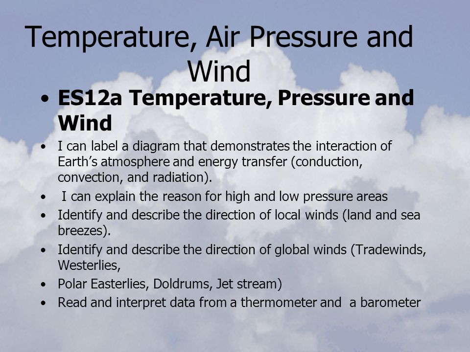 Temperature Air Pressure And Wind Ppt Video Online Download. Temperature Air Pressure And Wind. Worksheet. Air Pressure Worksheet At Mspartners.co