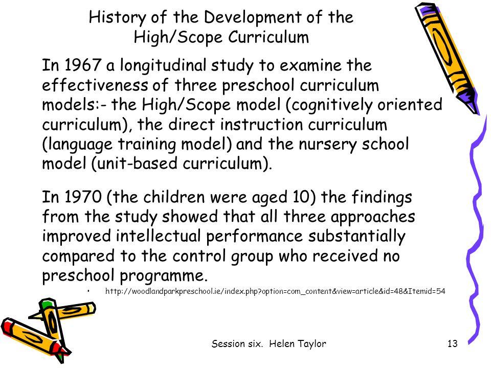 History Of The Development High Scope Curriculum