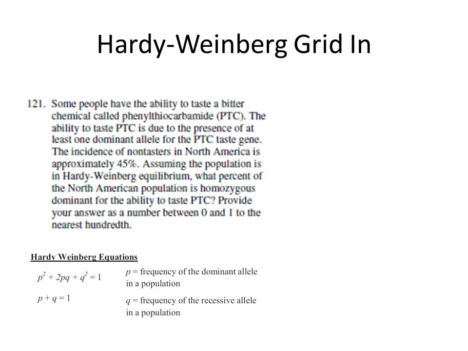Hardy-Weinberg Grid In