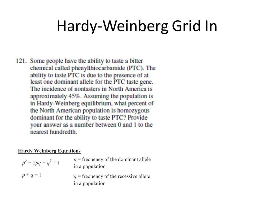 Hardy-Weinberg Grid In