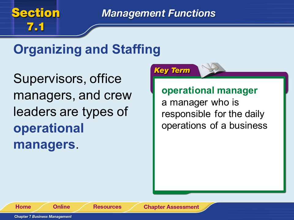 Organizing and Staffing