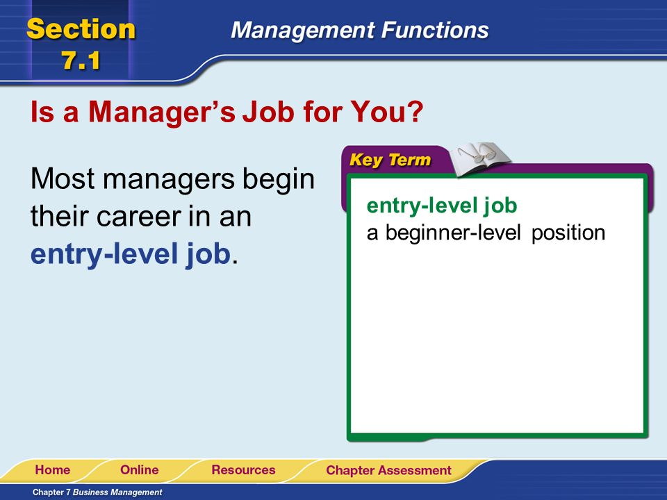 Is a Manager's Job for You