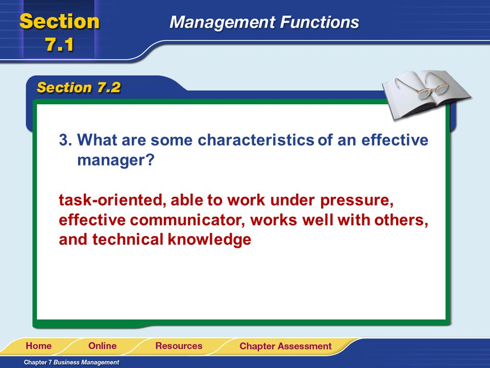 What are some characteristics of an effective manager