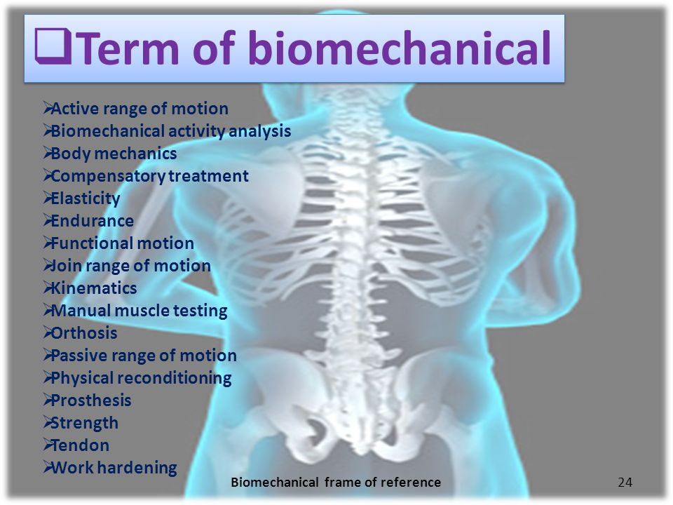 the biomechanical frame of reference in 3 biomechanical frame of reference introduction: most frequently in practice among the top five frame applied the principle of physics to human movement restoring functional skill .