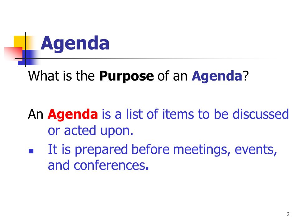 Business Documents: Agenda and Minutes - ppt download