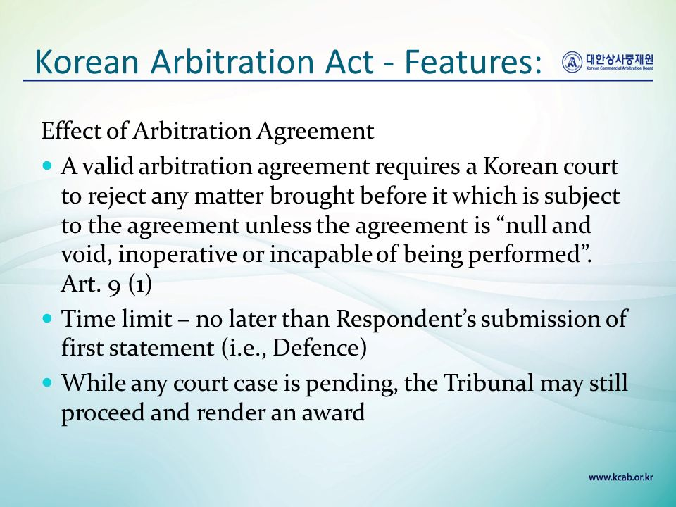 An Introduction To International Commercial Arbitration In Korea Tom