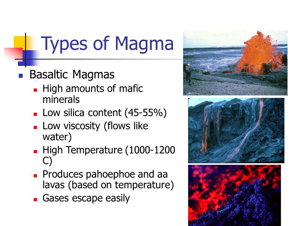 Basalt Silica Content Of : Types structures and eruptions ppt video online download