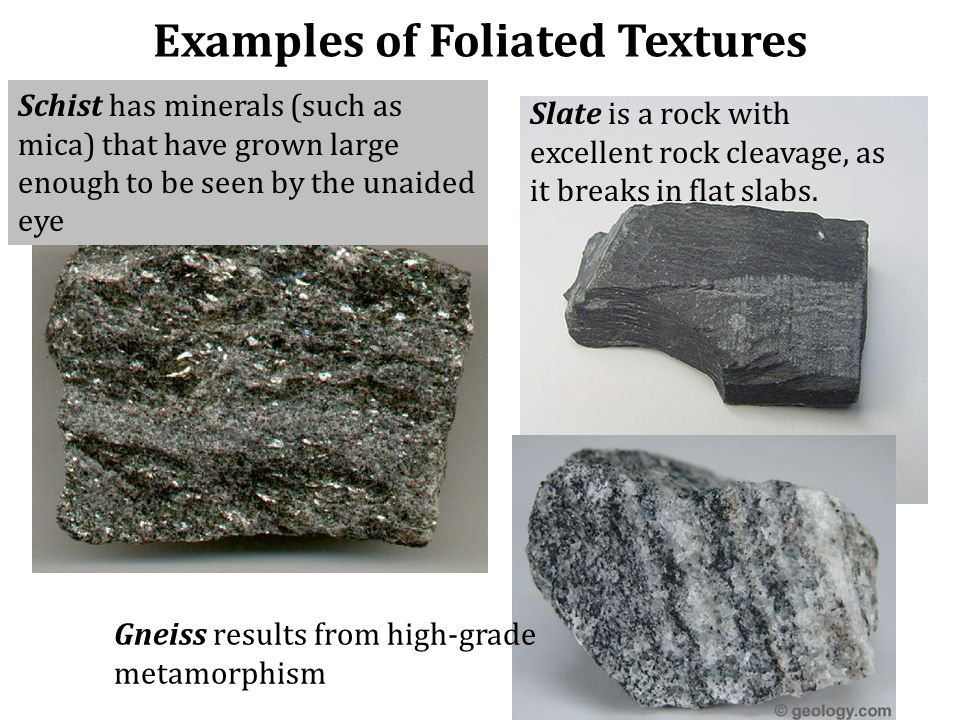 Examples of Foliated Textures