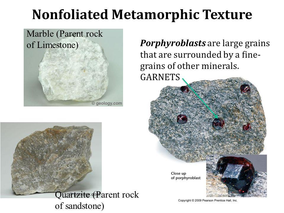 Nonfoliated Metamorphic Texture