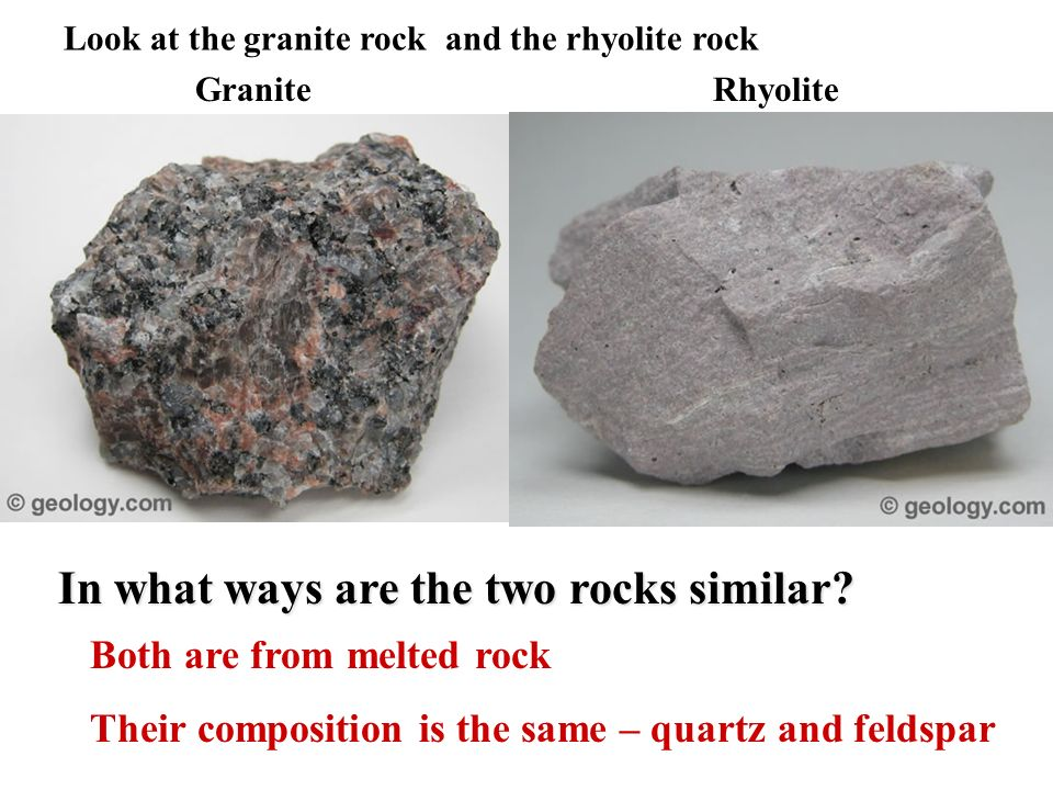 In what ways are the two rocks similar