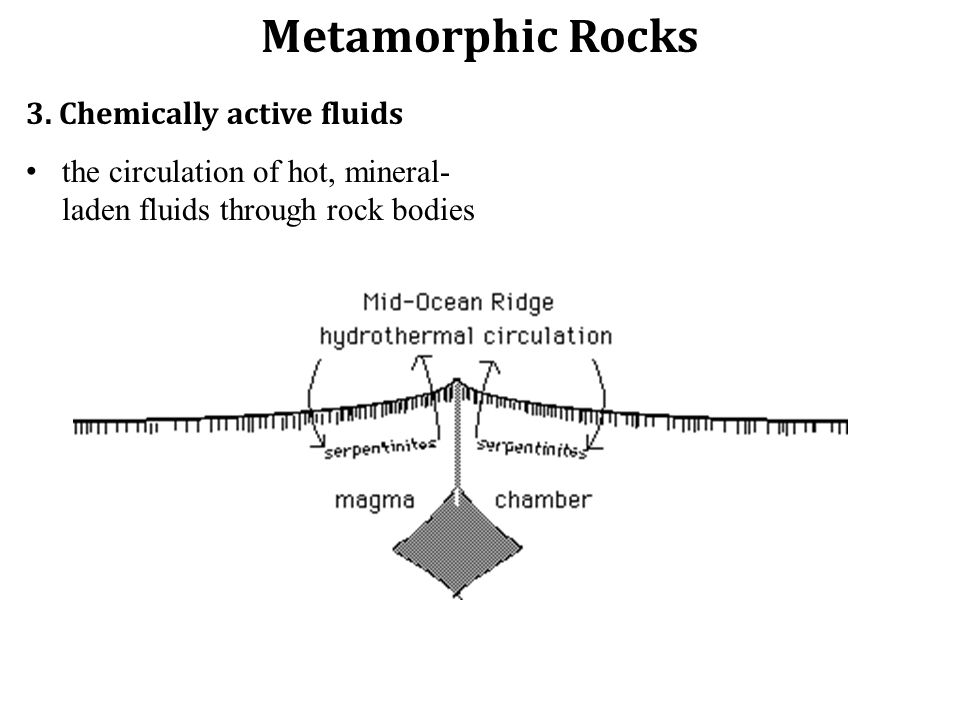 Metamorphic Rocks 3. Chemically active fluids