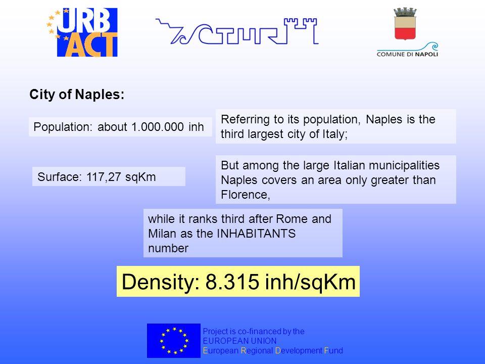 Density: 8.315 inh/sqKm City of Naples: