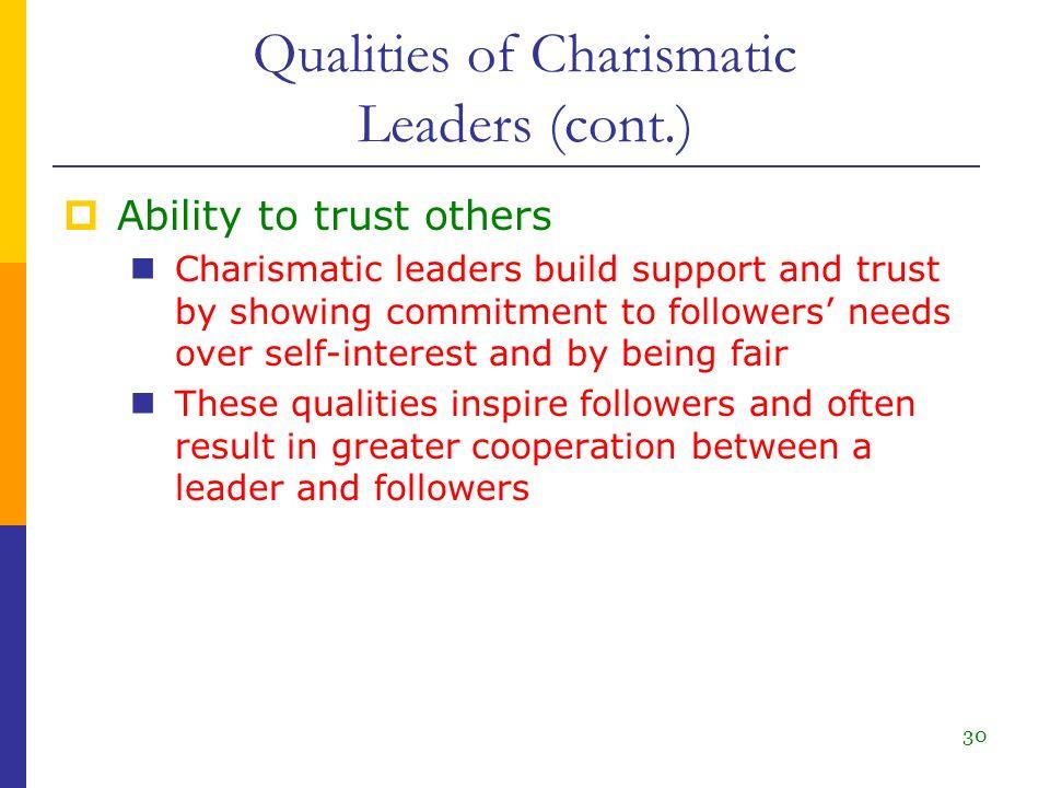 charismatic leadership qualities