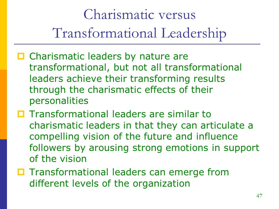 Essay on Charismatic Leadership
