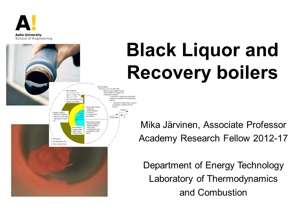 Black Liquor and Recovery boilers - ppt video online download