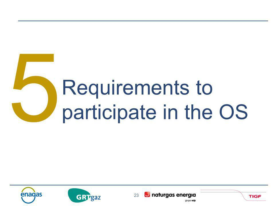 5 Requirements to participate in the OS