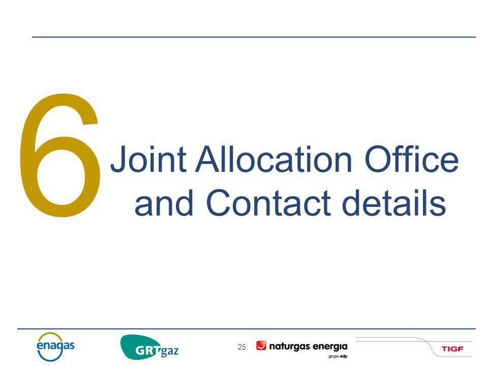 6 Joint Allocation Office and Contact details