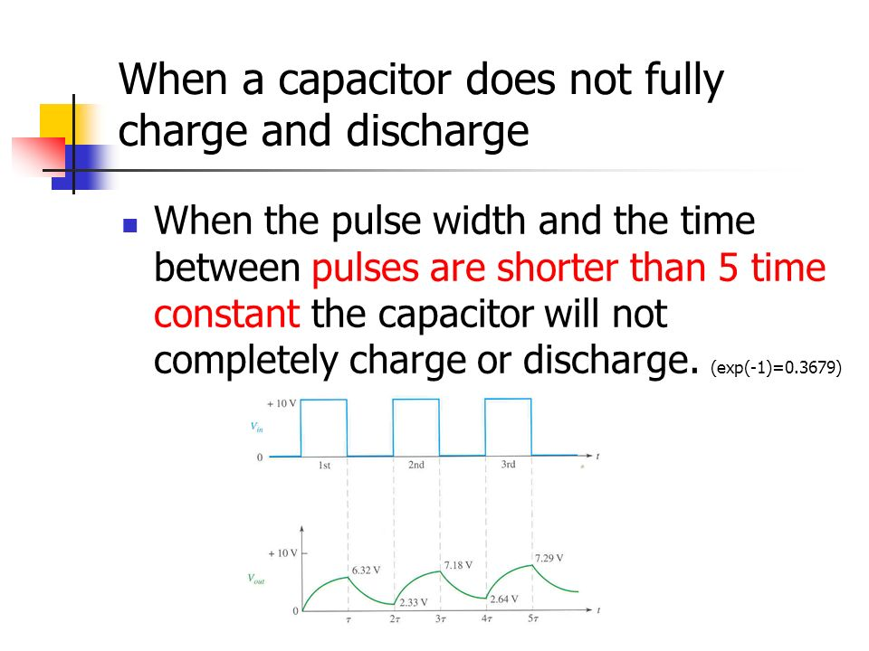 When a capacitor does not fully charge and discharge