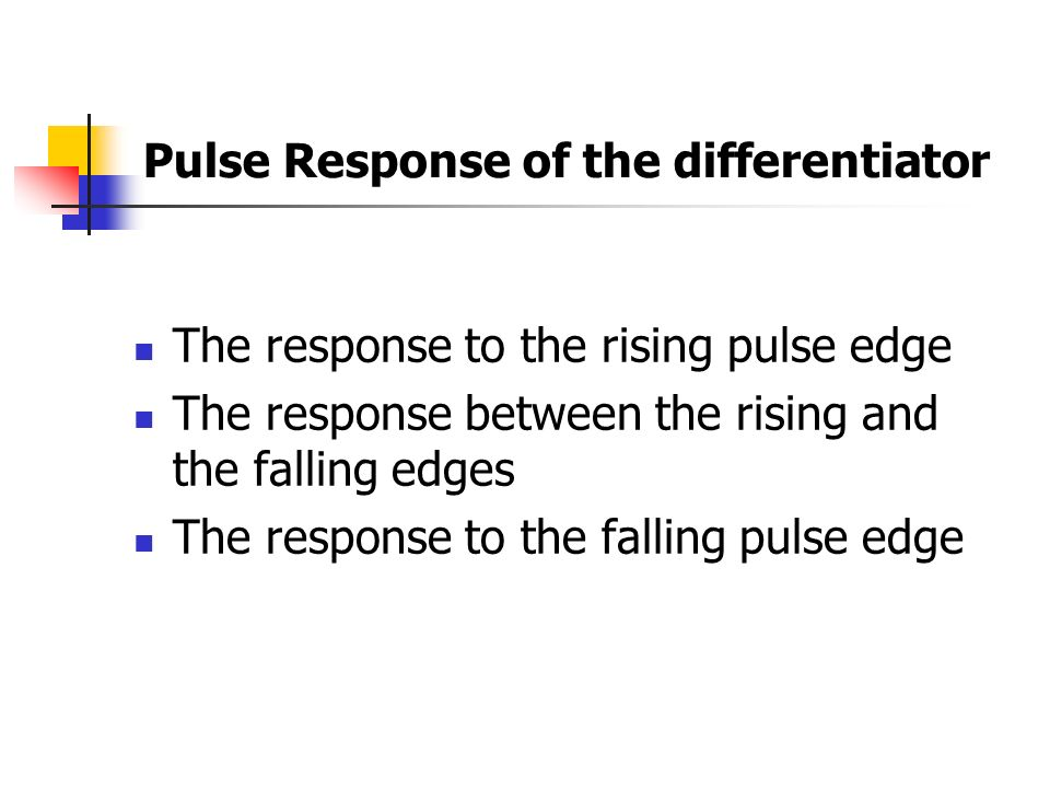 Pulse Response of the differentiator