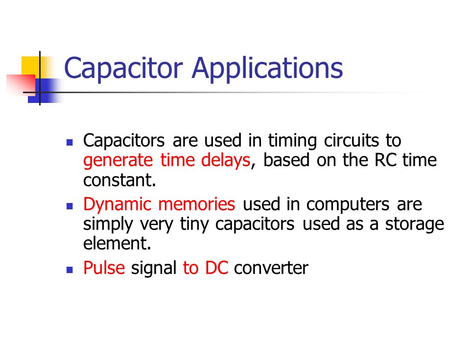Capacitor Applications