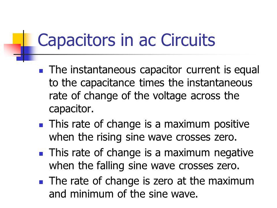 Capacitors in ac Circuits