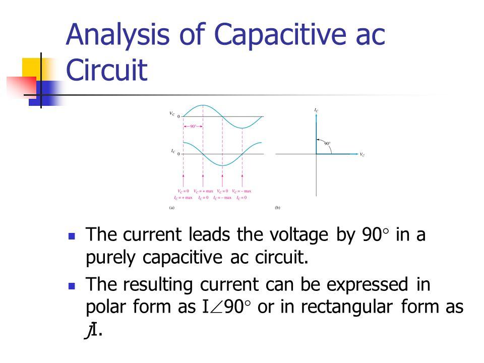 Analysis of Capacitive ac Circuit