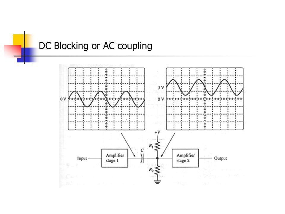 DC Blocking or AC coupling