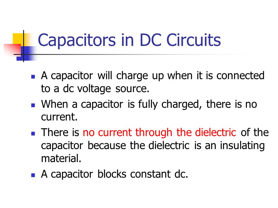 Capacitors in DC Circuits