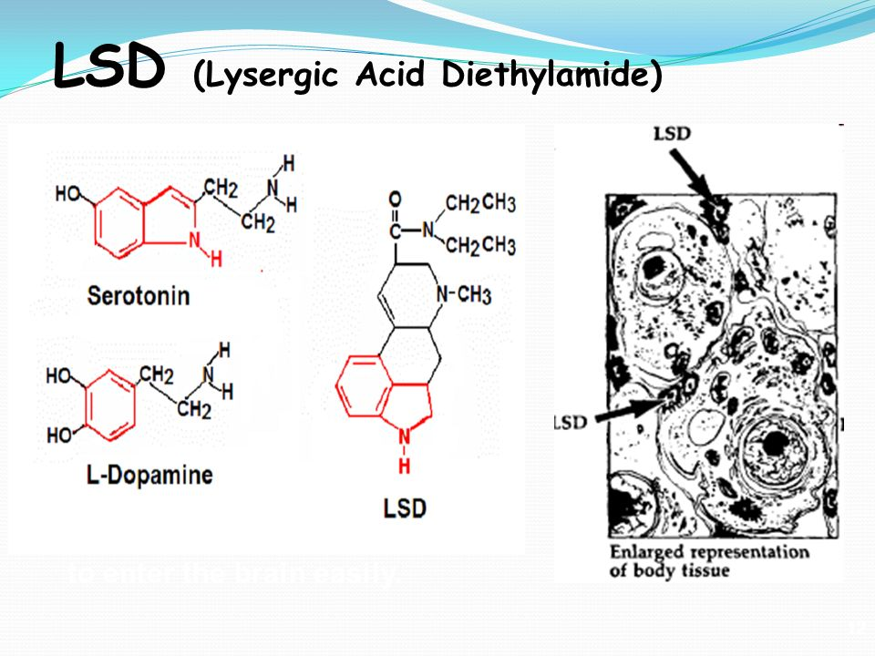 lsd lysergic acid deithylamide Lysergic acid diethylamide a solution of 71 g of lysergic acid monohydrate as with any of the formulas calling for the monohydrate, you may substitute dry or anhydrous lysergic acid in place of the lysergic acid monohydrate by using a smaller amount of the dry lysergic acid.