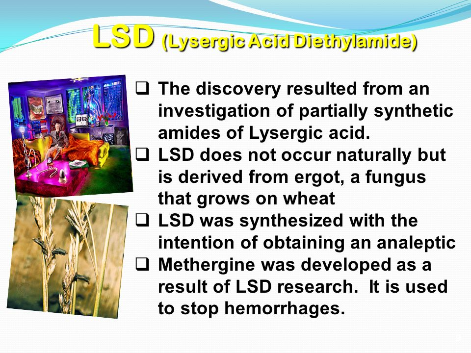 a research on the effects of lsd or lysergic acid diethylamide It causes hallucinations and has very unpredictable effects lsd can have long-lasting  research and business  and dots) stands for lysergic acid diethylamide.