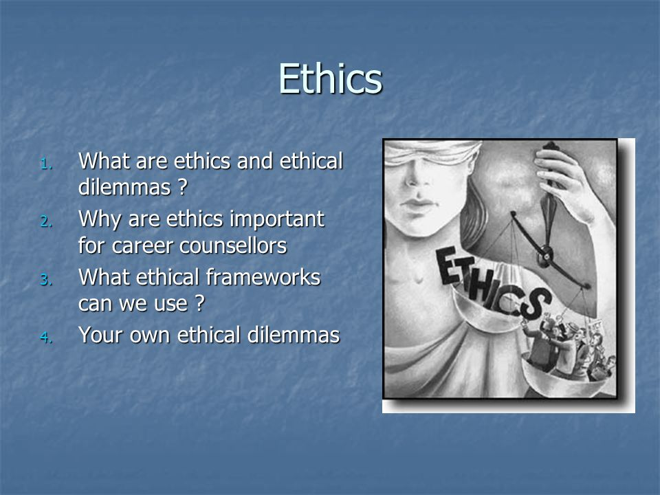 the importance of ethics in counselling The code of ethics reflects ideals of naadac and its members, and is designed as a statement of the values of the profession and as a guide for making clinical .