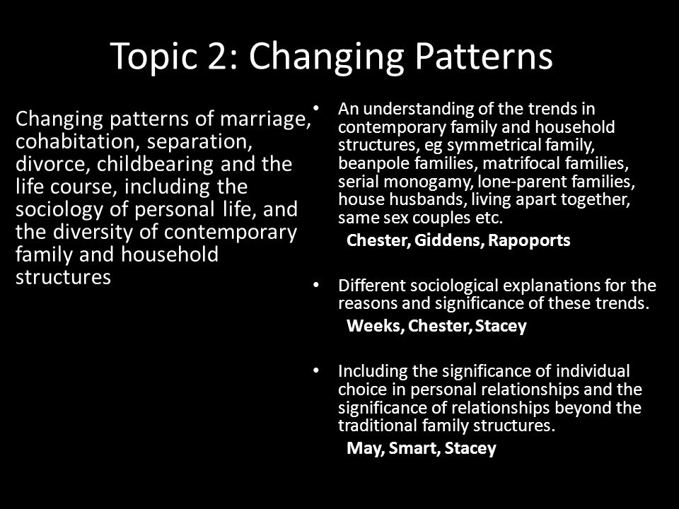 contemporary dating patterns sociology