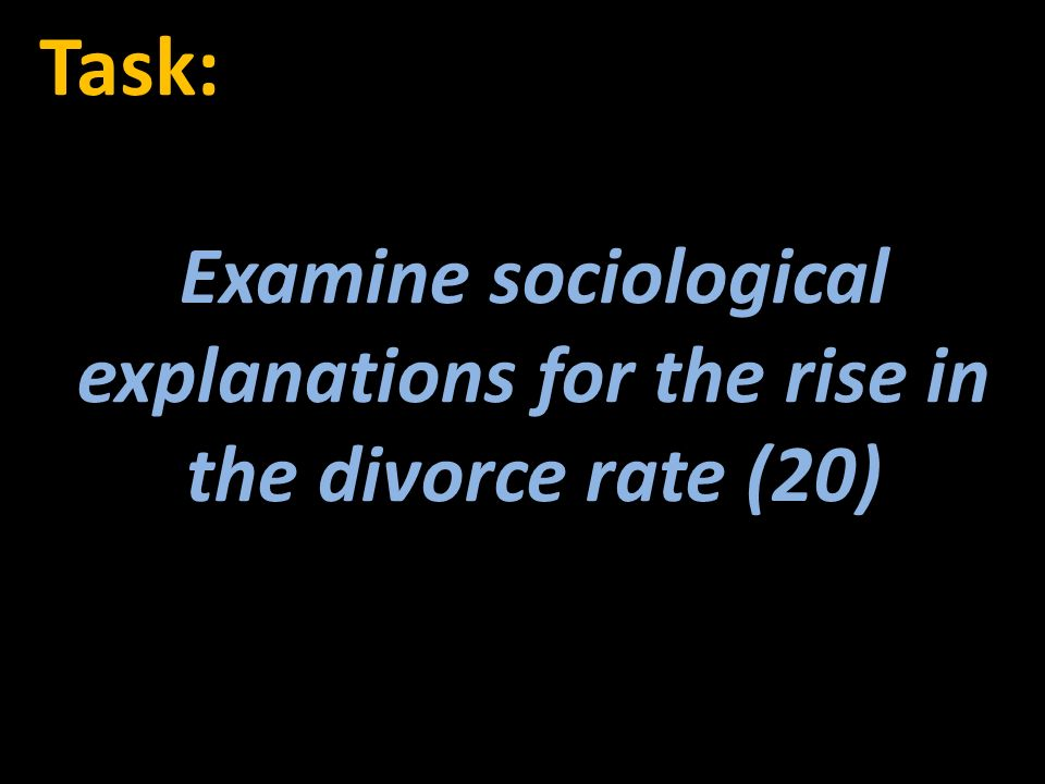rising divorce rate essay Married in canada - and subsequently get divorced at a high rate -the societal  issues  during tough times, and therefore, the divorce rate has risen this, in  turn.