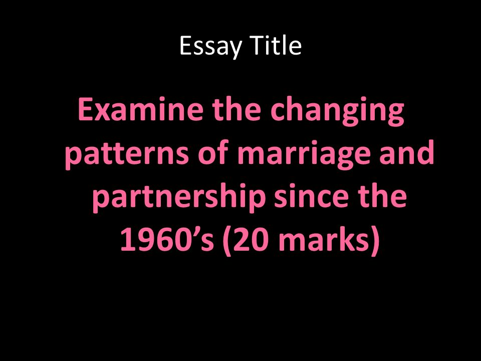 definition essay on marriage