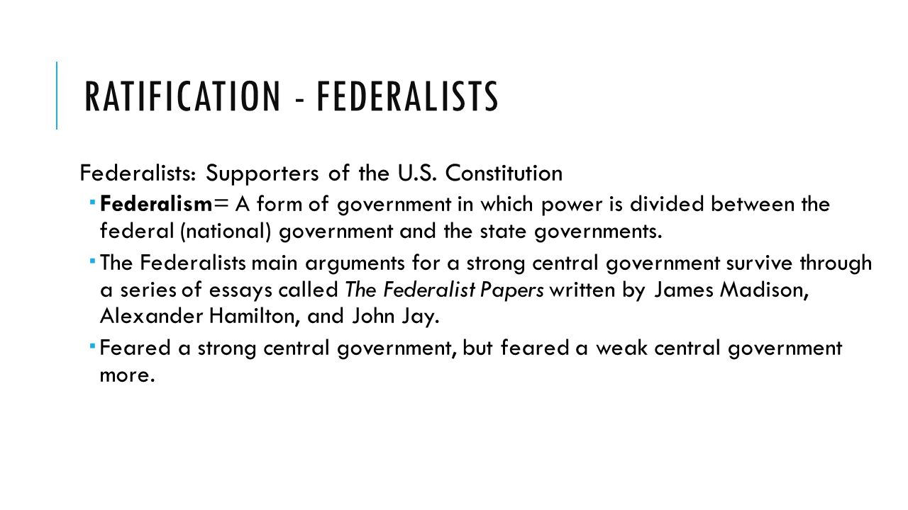 an essay analyzing the disagreements between the federalists and anti federalists Anti-federalist debates, it featured two national parties competing for control of the presidency, congress, and the states: the federalist party and the rival democratic- republican party the federalists were dominant until 1800, and the republicans were dominant after 1800.