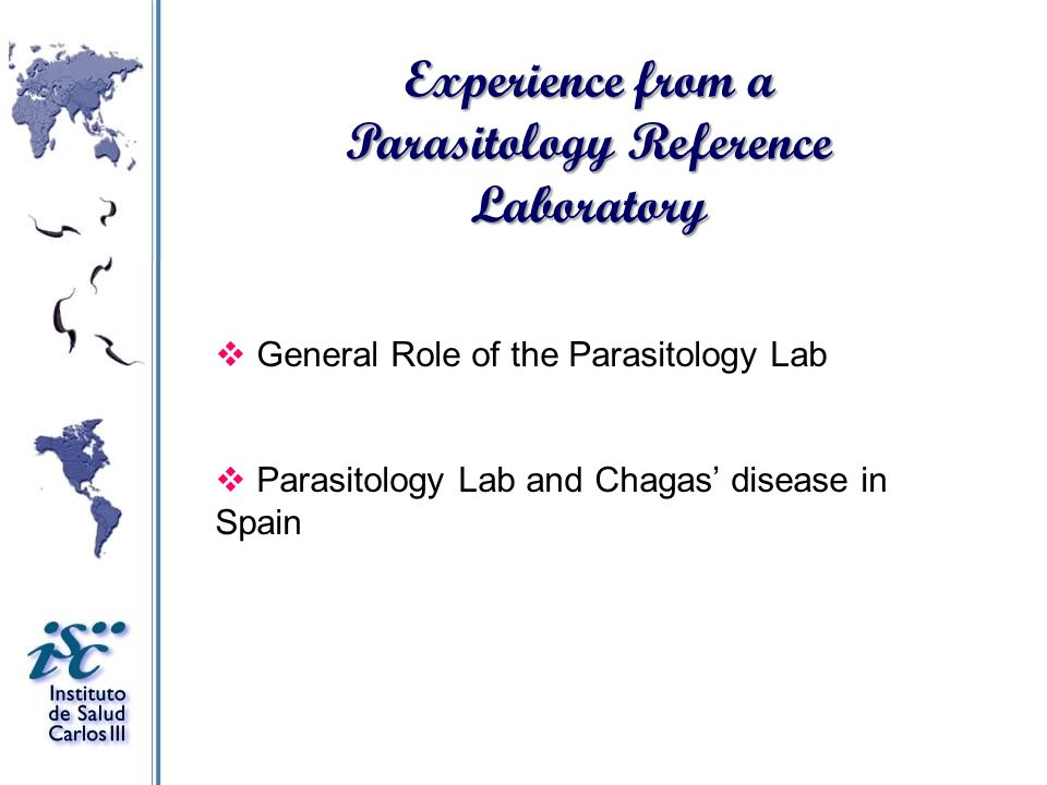 Experience from a Parasitology Reference Laboratory