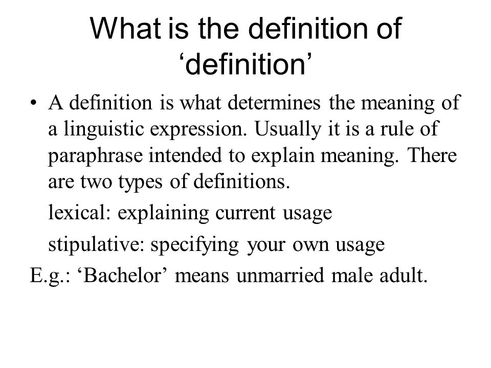 Meaning ambiguity and vagueness ppt video online download for Bachelor definition