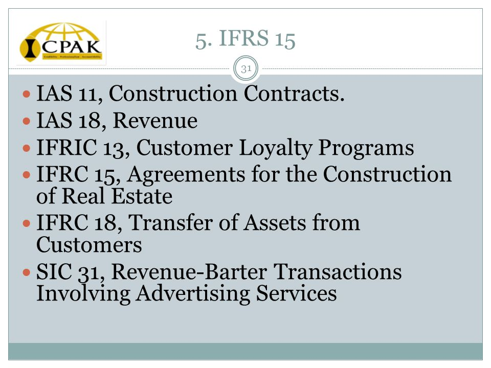ias 11 Contract revenue (ias 1111-15) • is recognised at fair value of consideration receivable and comprises: (a) the initial amount of revenue agreed in the contract and 4 (b) variations in contract work, claims and incentive.