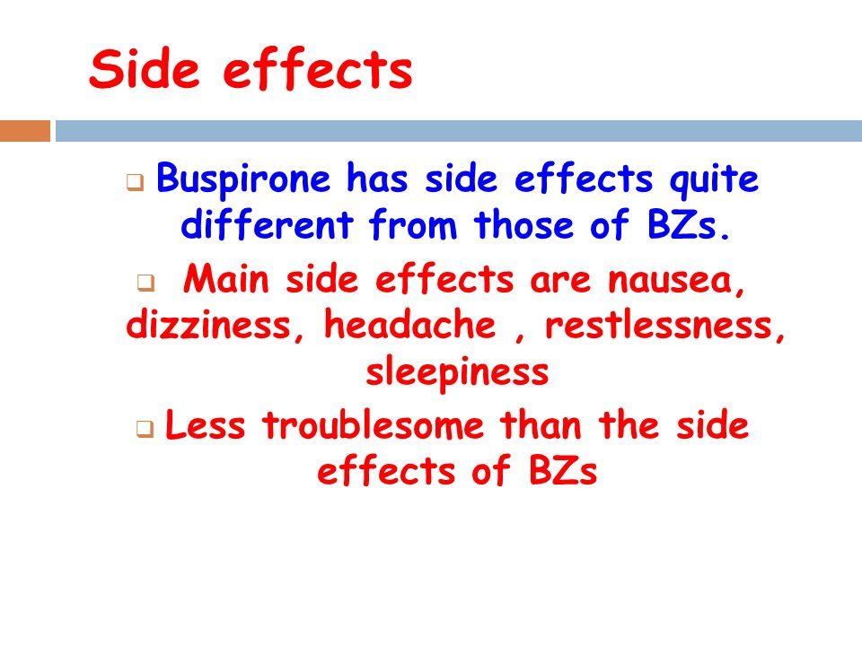Buspar Buspirone And Lamictal Side Effects