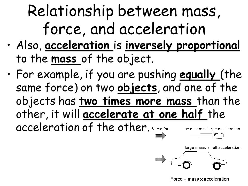 relationship of mass and acceleration