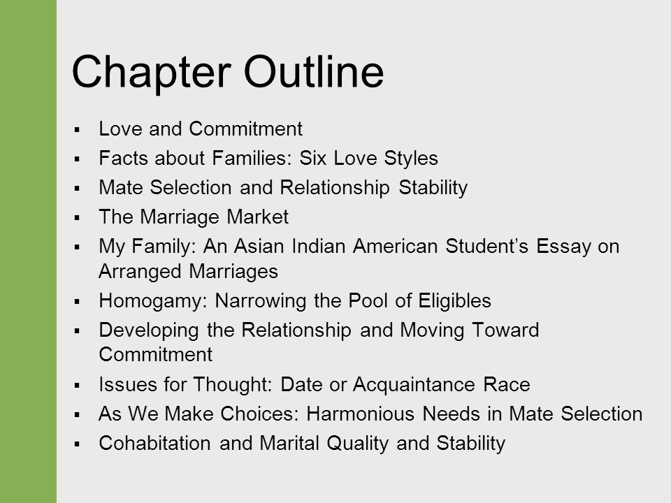 love and choosing a life partner ppt 2 chapter