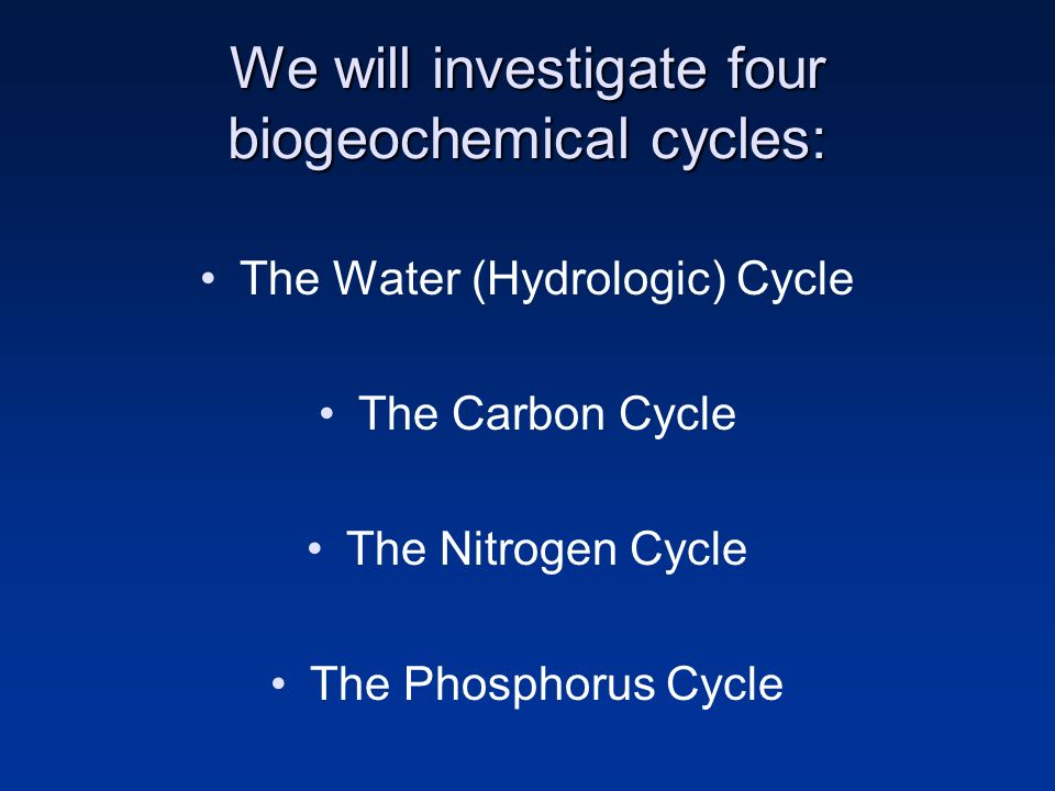 parts of the water cycle carbon nitrogen and hydrologic cycles Objective 1 identify sinks, sources, and steps of the water cycle resources more_vertmore_vertmore_vert slideshow video: water and carbon cycles more_vertmore_vertmore_vert slideshow reading: the nitrogen cycle: processes, players, and human impact more_vertmore_vertmore_vert insert_drive_file.