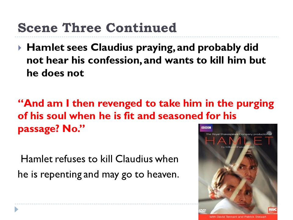 Conflict in hamlet killing claudius