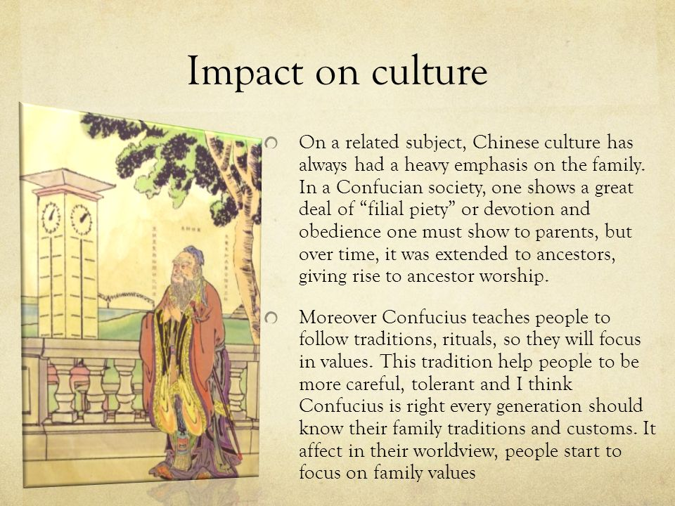 an analysis of confucianism impact on chinese rituals and traditions The world's religions by huston confucianism, impact on china, chapter summary and analysis if religion is considered from its broader sense as being a.