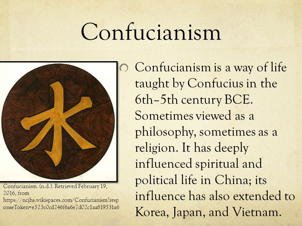 distinguishing philosophy from religion the example of confucianism To distinguish between right and wrong it is almost an inner judge within an  are passages, for example, where confucius is asked to spare the expenditures.