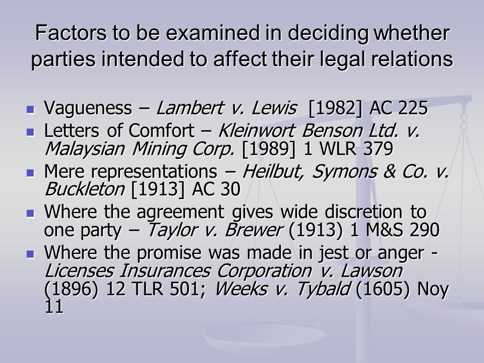 Lg538 law general principles of contract law ppt video online 30 factors stopboris Images