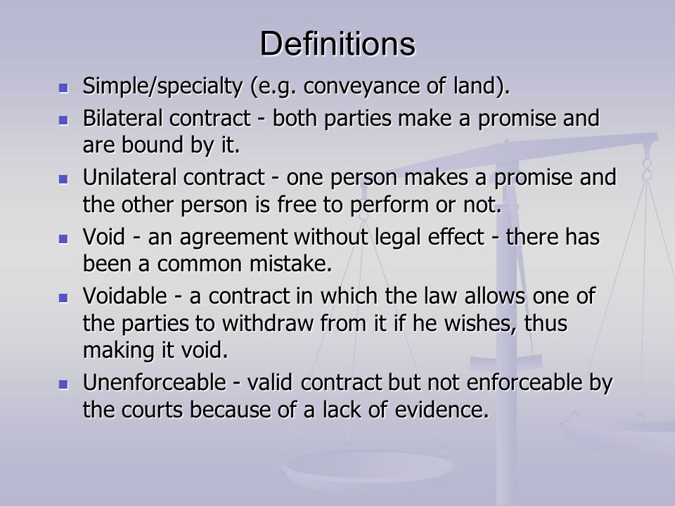 Lg538 law general principles of contract law ppt video online 5 definitions stopboris Gallery