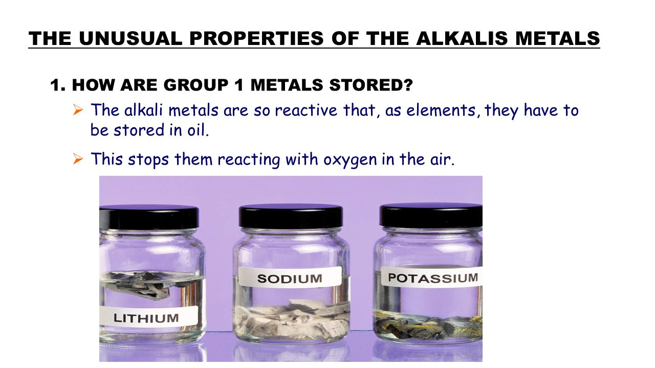 Where are the alkali metals ppt video online download the unusual properties of the alkalis metals gamestrikefo Gallery