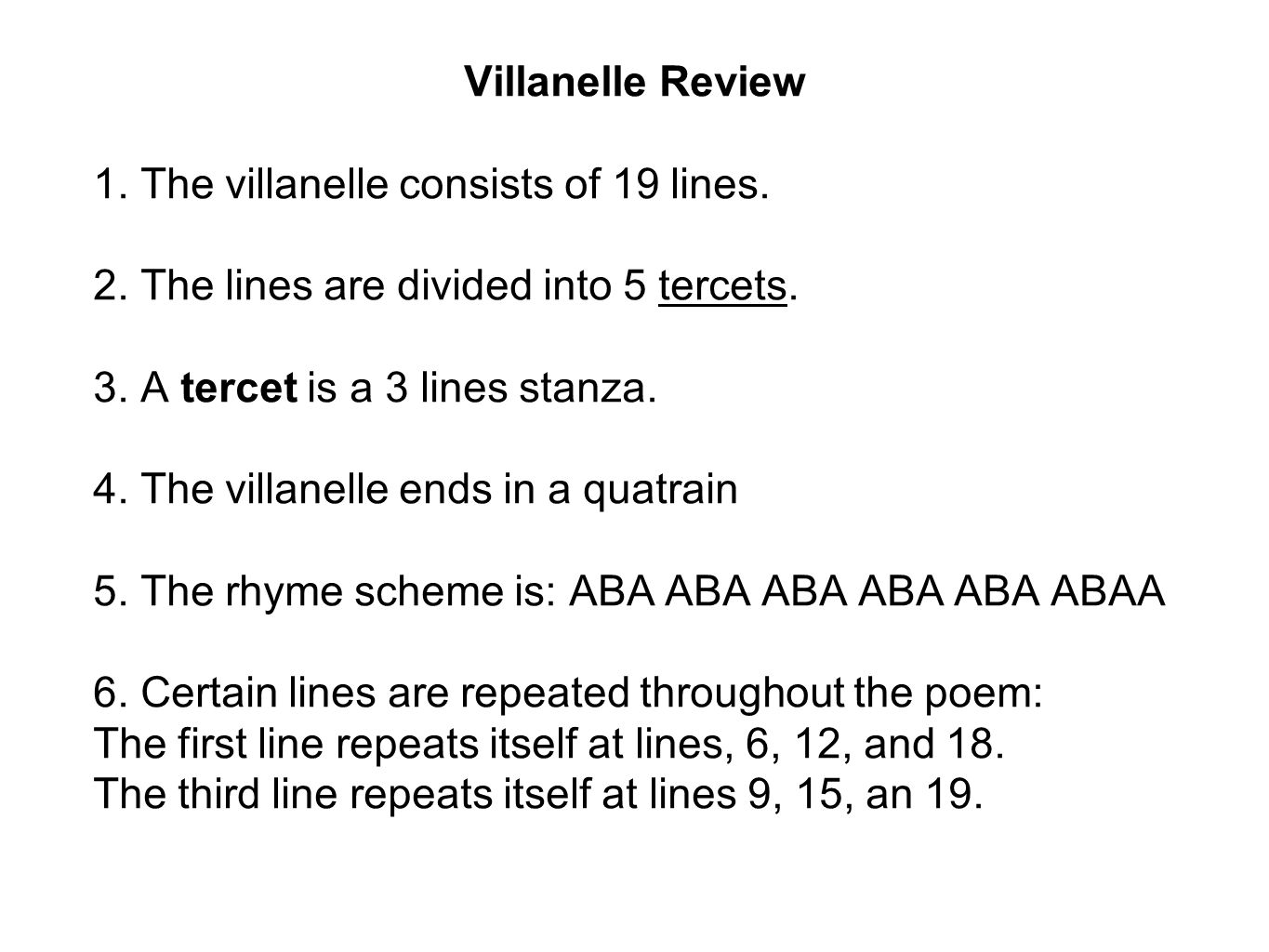 how to write a villanelle in iambic pentameter